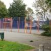 Orange and blue games court, Pugsley Street, Crindau, Newport
