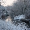 Looking along the river in winter