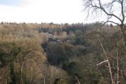 A house in woodland near Lindridge Hill