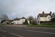 Houses and businesses by the A38, Appledore