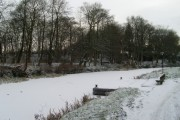 Snow-covered canal at Cadder