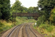 The Cotswold Way crosses the Swindon - Gloucester line