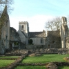 Minster Lovell Church through the ruined Hall