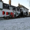 Lingering snow in Shalford village centre