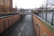 Bridge over the A193 road in Byker