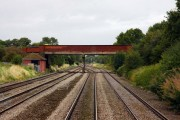 The B4008 crosses the line