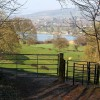 Gated Footpath and Witcombe Reservoir View