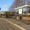 Bus stop by the bridge, Caerleon