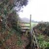 Stile on the footpath near Water Farm
