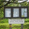 Casterton village notice board, Cumbria