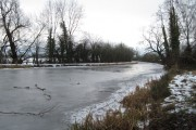 Frozen Montgomery Canal looking South