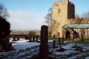 All Saints Church in Bradbourne and Saxon Cross