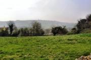 Farmland, looking towards Maugersbury Hill