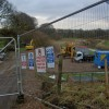 Riverbank construction works Darfield