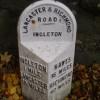 Milestone near Ingleton