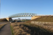 Bridleway bridge over A66 Darlington