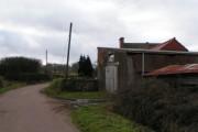 Farm buildings on the edge of Marsh Green