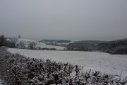 Snow covered fields near Hassop