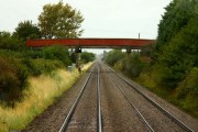The road to Claydon crosses the railway