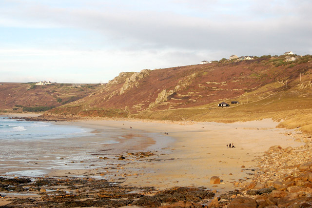 Beach at low water north of Sennen Cove