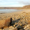 Rocks on the foreshore north of Sennen Cove