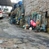Fishing tackle on a slipway at Sennen Cove
