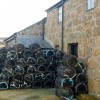 Stacked lobster pots at Sennen Cove