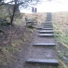 Footpath steps leading out of Demesne Mill Picnic Area Wolsingham