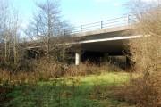 Bridge carrying A30 road over a brook near Broadwoodwidger
