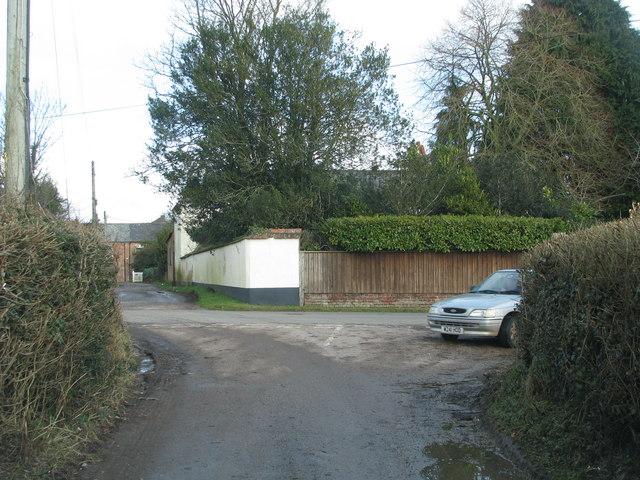 Road junction at Gosford