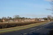 Approaching Elvaston from Thulston