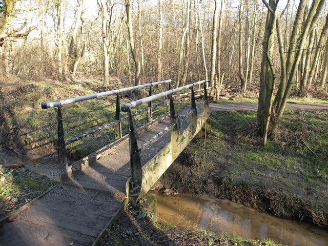 Footbridge over Slotburn Beck