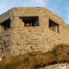 Close-up view of a pillbox above Sennen Cove