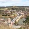 Looking down on the Severn Bridge