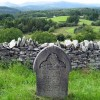 Looking west from Capel Garmon Cemetery