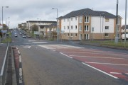 Mini-Roundabout on the A721 on the outskirts of Wishaw