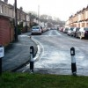 Percy Road, blocked off to stop 'rat running' from Romsey Road