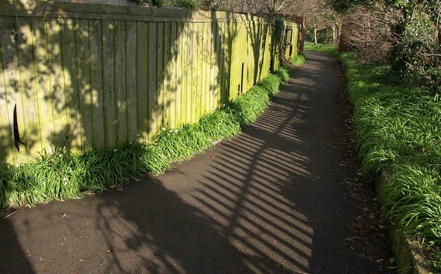 Path and fence, Hollicombe