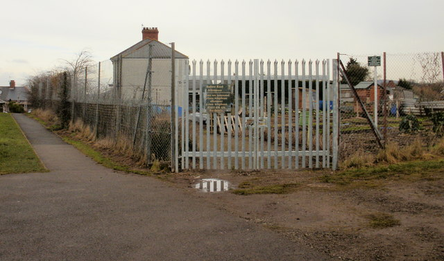 Entrance to Radnor Road allotments, Newport