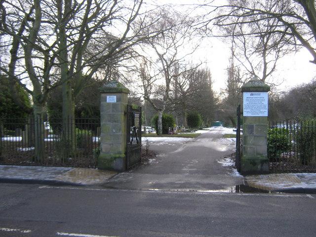 Entrance to North Cemetery Darlington
