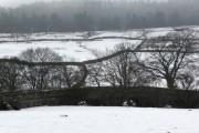 Scabba Wath bridge in the snow
