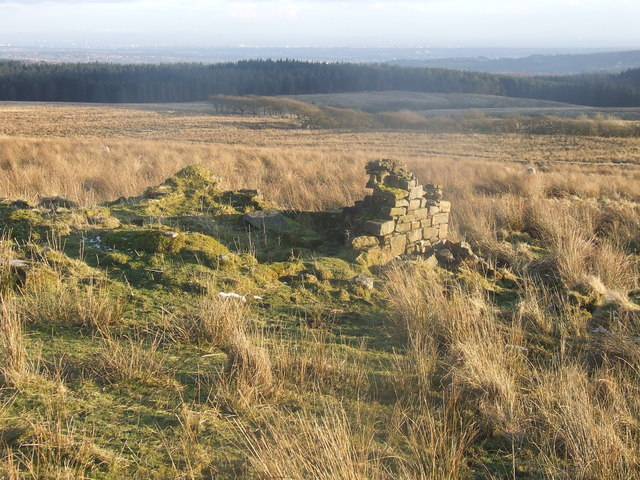 Looking south east from the ruins of Cooper's Farm, Turton Moor