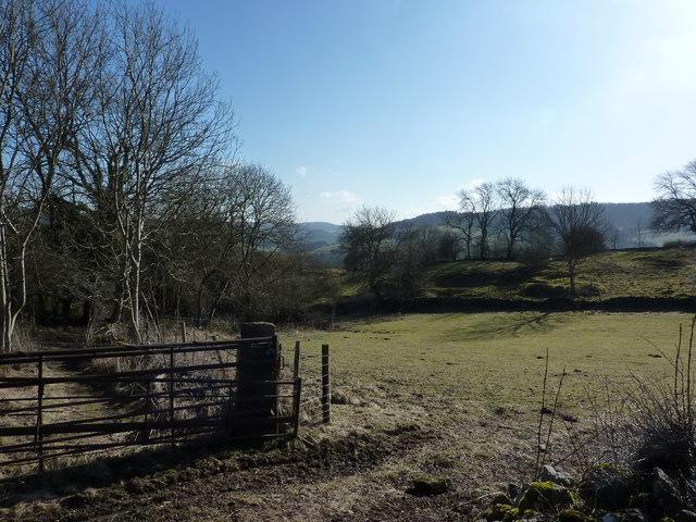 Farmland above Cromford