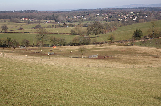 A mix of arable and pasture land