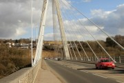 Looking across Chartist Bridge, Blackwood, from the west