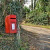 Postbox and footpath - Pentyrch