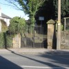 The gates to Flint cemetery on Northop Road