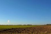 Flat farmland (0ft above sea level) near Reedness