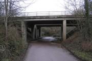 Bridge carrying Keynsham Bypass (A4)