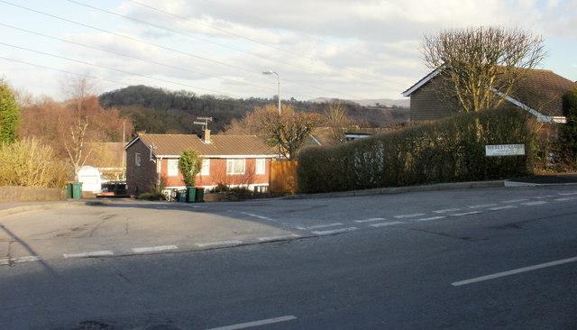 Corner of Webley Close, Caerleon